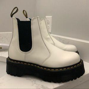 Dr. Marten White 2976 Quad Chelsea Boots